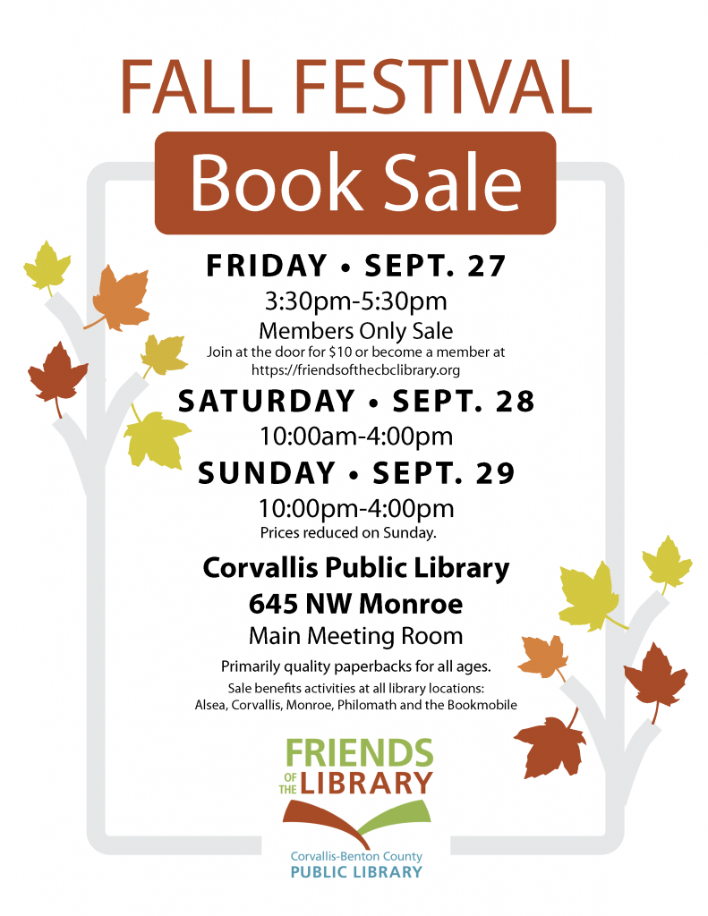 Friends of the Corvallis-Benton County Library – Supporting